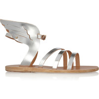 Ancient Greek Sandals - Ikaria metallic leather wing sandals