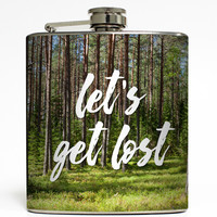 Let's Get Lost - Camping Flask