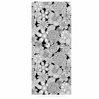 """Julia Grifol """"Welcome White Birds"""" Black Floral Luxe Rectangle Panel"""