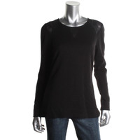 Calvin Klein Womens Knit Perforated Pullover Sweater