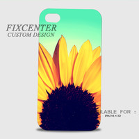 Sunflower 3D Cases for iPhone 4,4S, iPhone 5,5S, iPhone 5C, iPhone 6, iPhone 6 Plus, iPod 4, iPod 5, Samsung Galaxy Note 4, Galaxy S3, Galaxy S4, Galaxy S5, BlackBerry Z10 phone case design