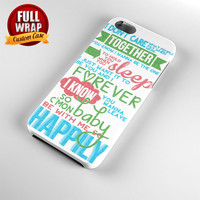 One Direction 1D Happily Lyrics Full Wrap Phone Case For iPhone, iPod, Samsung, Sony, HTC, Nexus, LG, and Blackberry