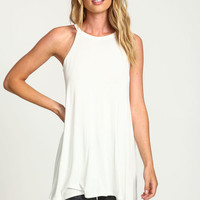 IVORY TAPERED JERSEY TEE DRESS