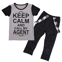 US Stock Girls Clothes 2017 Brand Toddler Girl Clothing Sets Roupas Infantis Menino Character Letter Kids Clothes