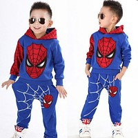 Spiderman Children Sport Suit (2-7 Years Kids Clothing Tracksuits)