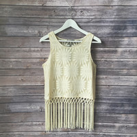 Sunflower Girl Fringe Tank