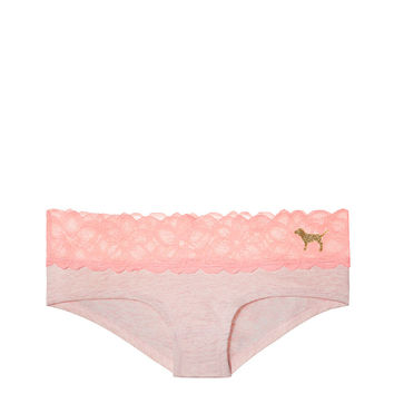 Lace Trim Hipster Panty - PINK - Victoria's Secret