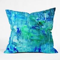 Rosie Brown Blue Grotto Outdoor Throw Pillow
