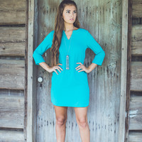 You and Me Dress in Teal