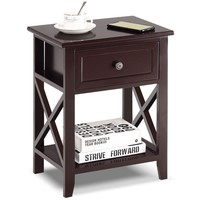 Costway Nightstand Bedside End Table with Drawer