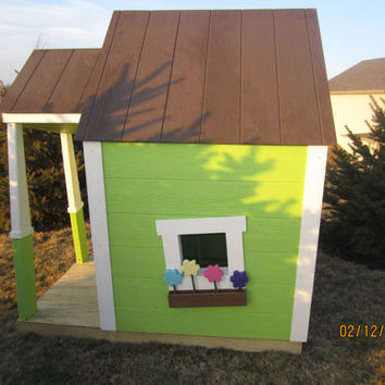 Whimsical Playhouse by Funnyboneplaysets on Etsy
