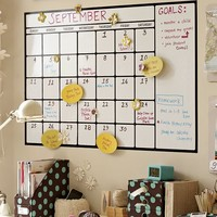 Dry-Erase Calendar Decal