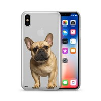 Black Masked Frenchie - Clear Case Cover