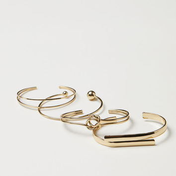 4 Bangle Bracelets - Gold-colored - Ladies | H&M US