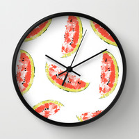 Watermelon Wall Clock by Rui Faria