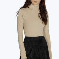 Lucy Turtle Neck Rib Long Sleeve Top