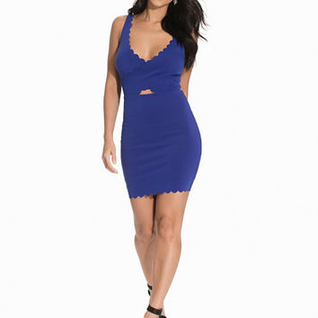 Scallop Cross Over Dress, NLY One