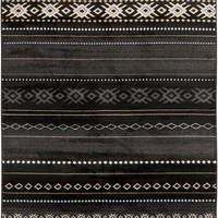 Paramount Southwest Area Rug Black