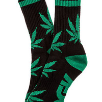 The Stay Smokin' Crew Socks in Black and Green