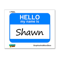 Shawn Hello My Name Is Sticker
