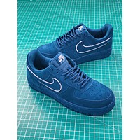 Nike Air Force 1 Af1 07 Lv8 Suede Blue | Aa1117-400 Sport Shoes