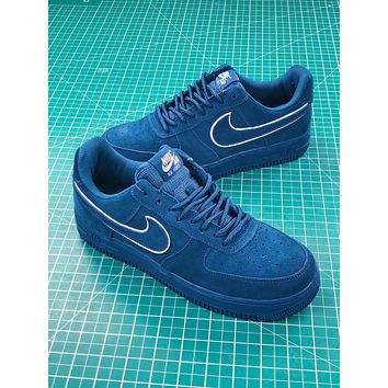 Nike Air Force 1 Af1 07 Lv8 Suede Blue   Aa1117-400 Sport Shoes