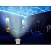 Asiawill® Night Light Projector Ocean Sea Amazing Daren Waves USB Speaker Lamp