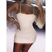 Sexy Crystal Mesh Dress
