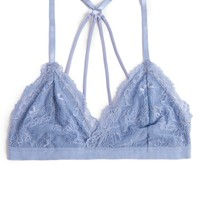 Strappy Back Lace Triangle Bralette