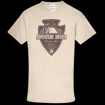 Southern Couture Soft Collection Adventure Awaits Under the Stars front print T-Shirt