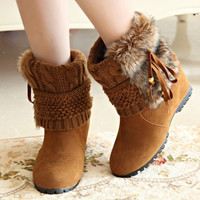 Fashion Women Winter Martin Snow Boot Platform Colorful Ankle Motorcycle shoes = 1932981252