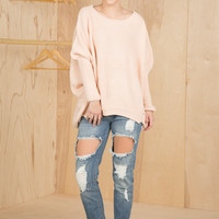 You're Getting Warm Sweater (Pale Pink)- Final Sale