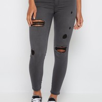 Gray Destroyed Jegging By Sadie Robertson x Wild Blue™ | Jeggings | rue21