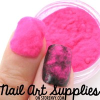 nailartsupplies | Shocking Pink Sweater Nails - Furry Velvet Flocking Nail Art Powder Mix | Online Store Powered by Storenvy