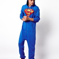 Onesuit With Superman Print