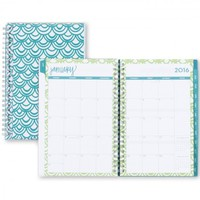 """Dabney Lee """"Seashells"""" Clear Cover Weekly/Monthly 5 x 8 Planner, Jan 2016 - Dec 2016"""