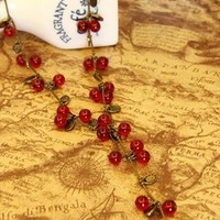 Cherry coin  Necklace from Moonlightgirl