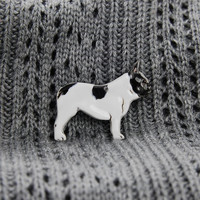 Frenchie French Bulldog Brooch Ceramic Glazed Pet Lovers