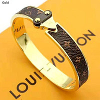 LV Louis Vuitton new female models wild classic old flower wild bracelet Silver