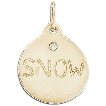 Snow Disk Charm With Diamond