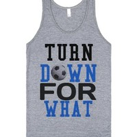 For what Soccer tank top tee t shirt-Unisex Athletic Grey Tank