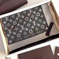 LV Tide brand classic letter jacquard wild long section scarf