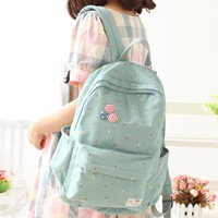 Korea cute Women Canvas Backpack School bag For Girls Ladies Teenagers Casual Travel bags Schoolbag Backpack BS287