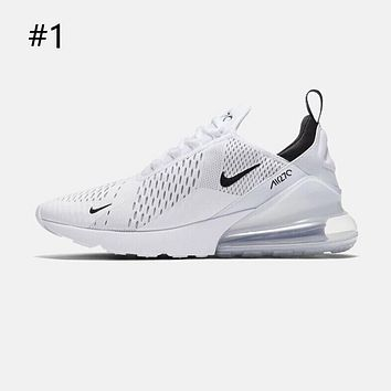 Nike AIR MAX 270 full palm air cushion men and women running casual sports shoes