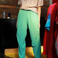 Seafoam Wrinkle Pants / L XL