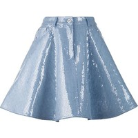 Moschino Sequin Embellished Denim Skirt - Patron Of The New - Farfetch.com