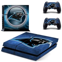 Carolina Panthers PS4 Skin Sticker Decal For Sony PlayStation 4 Console and 2 Controllers PS4 Skins Stickers Vinyl