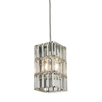 ELK Cynthia Collection 1 light mini pendant in Polished Chrome - 31488/1