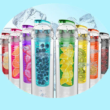 800ml High Quality Sports Fruit Infuser Water Bottle - 100% BPA Free