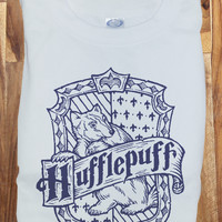 Trendy Pop Culture Harry Potter Hufflepuff Quidditch est 1050 College Style tee t-shirt tshirt Toddler Youth Adult Unisex Ladies Female